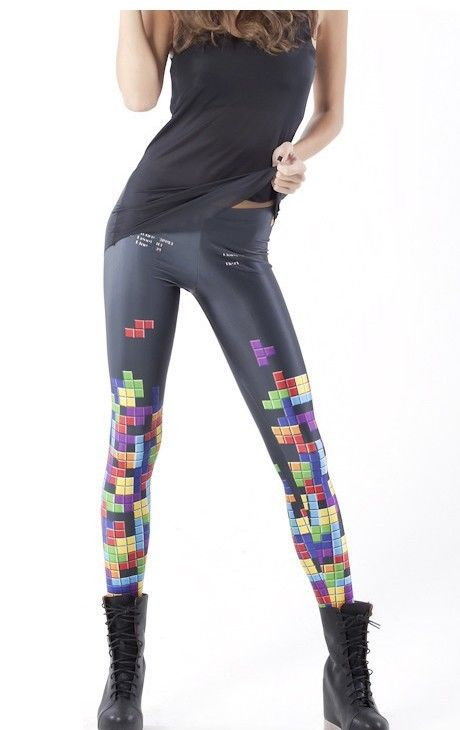Palicy Stylish Women Galaxy Punk Jeans Print Pattern Leggings GYM Pants S M L XL Sports