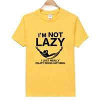 Free Shipping K012 Short Sleeve O-Neck T-shirt 100%Cotton Fashion Not Lazy Printed Men TShirts