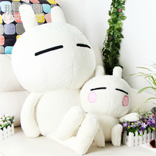 35/50/75cm Cute genuine cartoon rabbit Tuzki doll with 10 expressions plush toy doll children's Day gifts best choice for girls(China (Mainland))