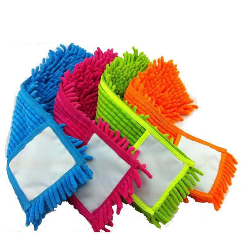 2 pcs Replacement pad for flat mop mops floor cleaning pad chenille flat mop head replacement refill head to floor mops(China (Mainland))
