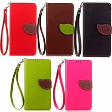 Luxury Leaf Buckle Wallet Flip Leather Case For Lenovo Lemon K3 K30-W K30W K30-T Flip Leather Cover For Lenovo A6000+Lanyard