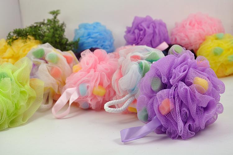Big Bubble Super soft Shower Sponges Exfoliation Body Puffs Shower Puff Bath Scrubbers Bath Ball Assorted Colors High quality(China (Mainland))