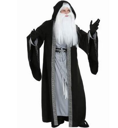 black magic costume magician costume adult witch costume halloween costumes masquerade party clothes(China (Mainland))