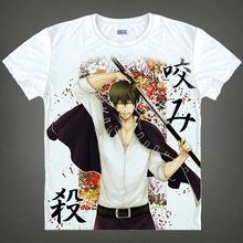 Gintama T-shirts kawaii Japanese Anime t shirt Manga Shirt Cute Cartoon Silver Soul Gin Tama Cosplay shirts 40244441291 tee 349