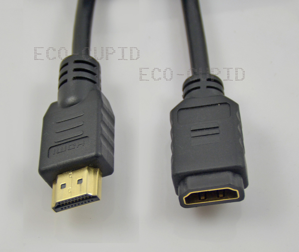 High Speed Standard 1.4 HDMI Male to HDMI Female Cable (0.33M/1 ft) Extend Extension Wire