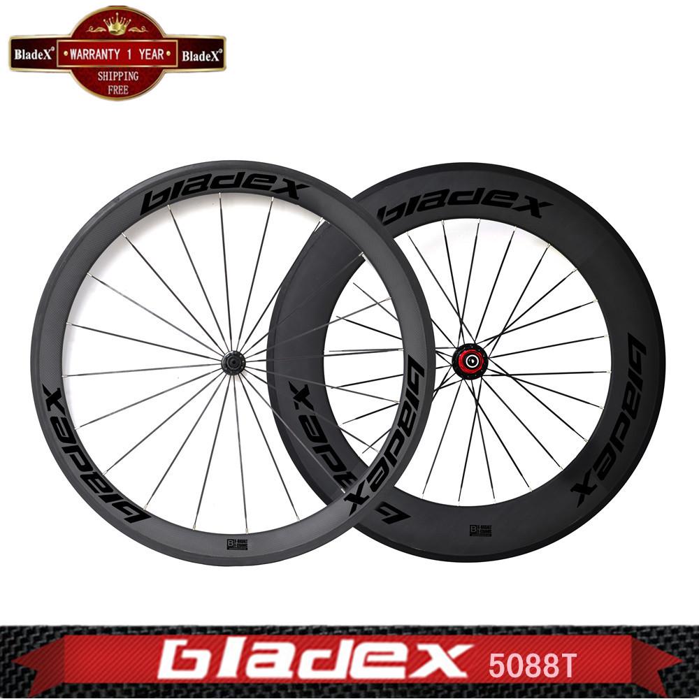 BladeX PRO ROAD CARBON WHEELS 45088C - 50/88mm Carbon Clincher Wheels;Ceramic Bearings;Basalt Braking Surface; Bicycle Wheel(China (Mainland))