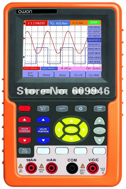 Owon Oscilloscope Display : Owon quot lcd display handheld scopemeter multimeter