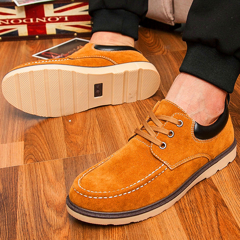 Leather male genuine leather commercial casual shoes male cotton-padded shoes plus velvet warm autumn shoes new arrival 277