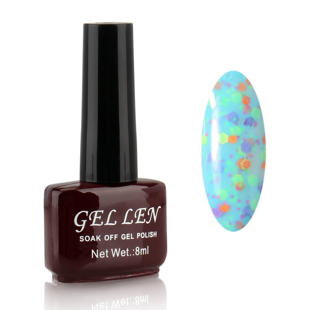 Gel Len CHEESE UV Gel Polish Soak off Decals Nails Manicure Art lasting Lacquer Long-Lasting up to 30 days 24 color in stock(China (Mainland))