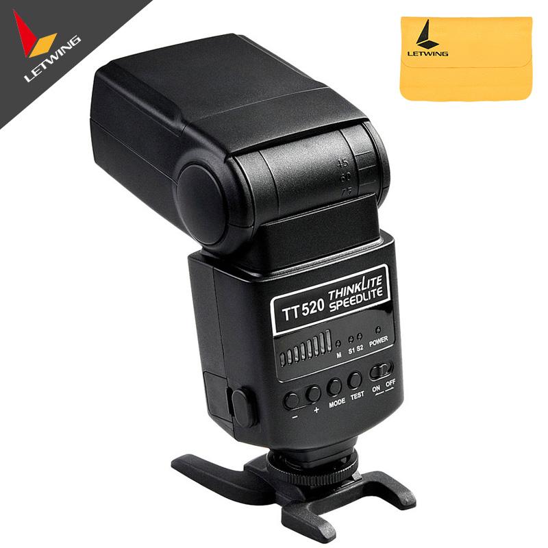 Godox TT520 Thinklite Electronic Flash Speedlite GN33 M S1 S2 5600K for Canon Nikon Olympus Pentax Camera Free shipping<br><br>Aliexpress