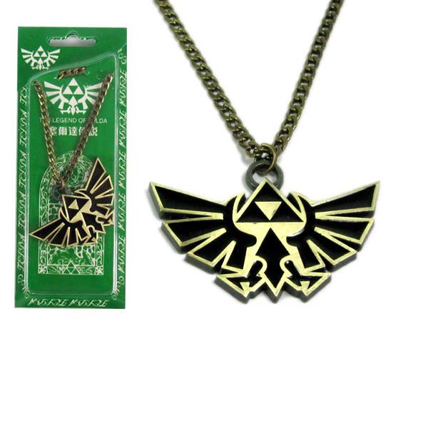 New The Legend of Zelda Badge Logo font b figure b font toys cosplay Necklace pendant