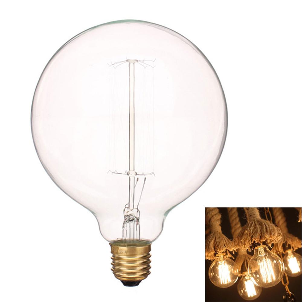 Modern Artistic Lighting Bulb E27 40w 220v Household Lamp Bulb Incandescent Bulb G125 Globe