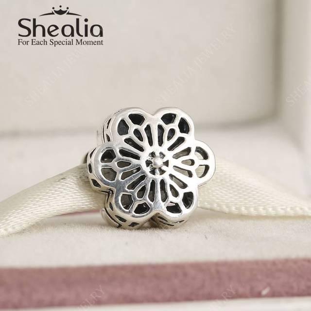 2016 новых весенняя коллекция 925-Sterling-Silver ажурные цветочные дейзи блокировка клип шарм бусины подходят женщины браслеты DIY BD347