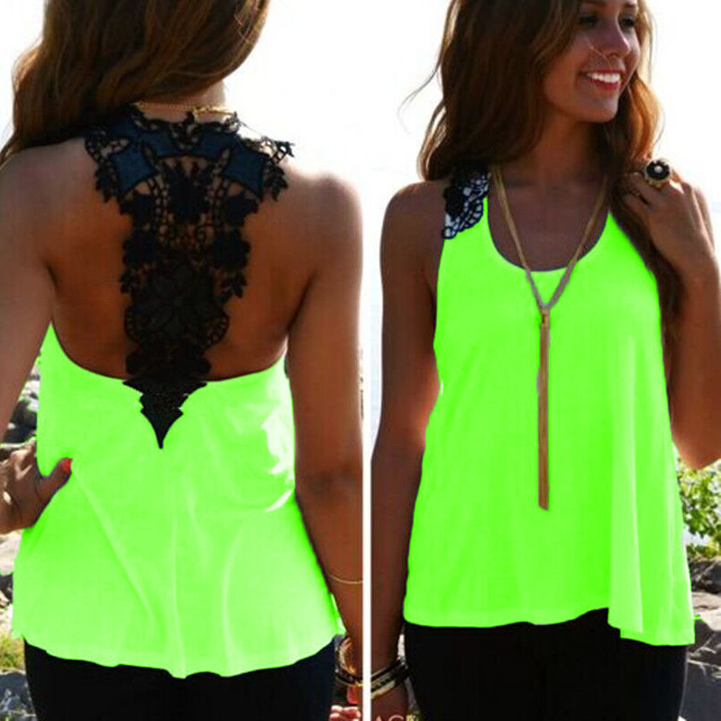 Explosion models lace stitching round neck sleeveless T back hollow sexy ladies vest YF-163TОдежда и ак�е��уары<br><br><br>Aliexpress
