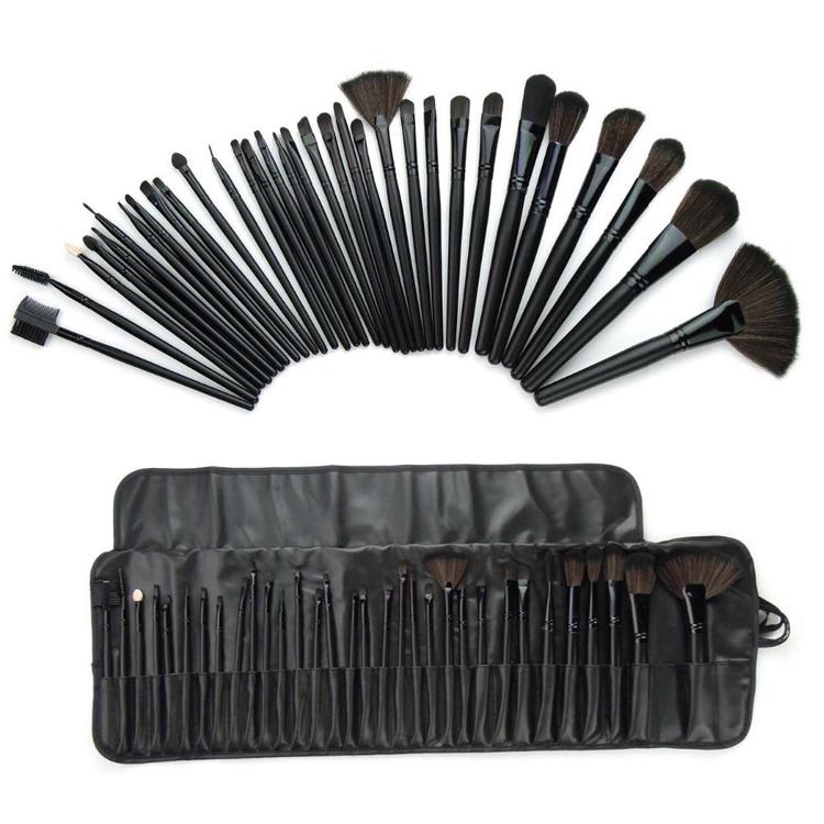 Women 32 Pcs Make Up Tools Superior Professional Soft Cosmetic Makeup Brush Set Kit + Pouch Bag Case Pincel Maquiagem Makeup0001(China (Mainland))
