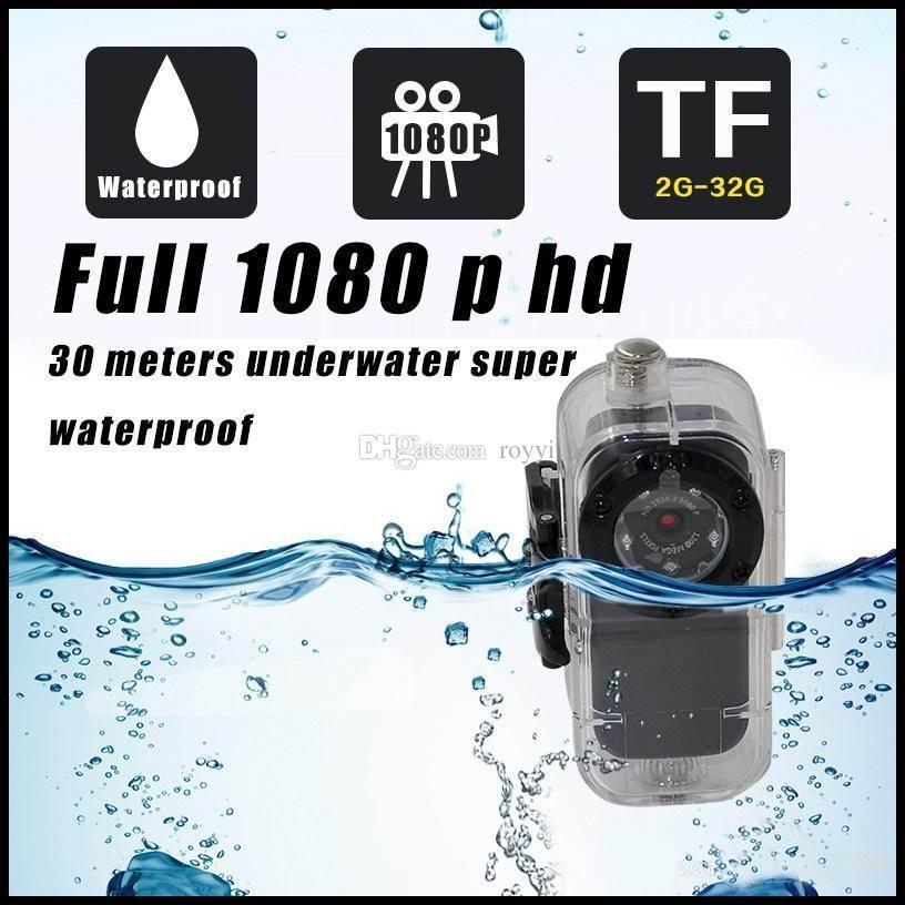 10pcs/lot Extreme HD 1080P/30fps Mini Sport Helmet Camera Action Cam Alloy Shell Mini DV F38 Thumb Camera Waterproof 10M Car DVR(China (Mainland))