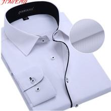 Korean Men's Business Shirts 2015 Autumn New Arrivals Fashion Cotton Male Shirt High Quality Long Sleeve Dress Shirt 5XL N353