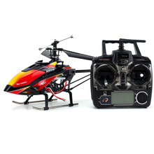 WLtoys V913 Large Alloy Frame 2.4GHz 4CH Single Blade Remote Control RC Helicopter Airplane with Built-in Gyro (Black+Red)