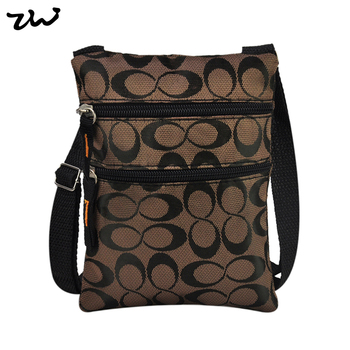 14*18cm Black and Brown 2 Color Letter Pattern Fashionable men's travel bags Purse QQ1890