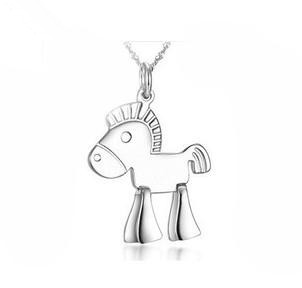 2016 new arrival Chinese horse year best birthday gift 925 sterling silver fashion pendant necklaces jewelry(China (Mainland))