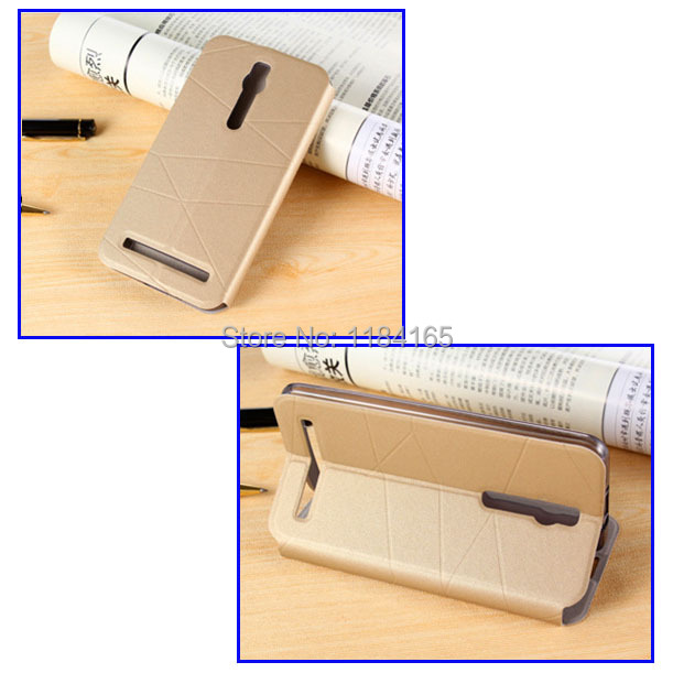 KOC-1629_3_Fashion Call Display ID Leather Case with Sleep Wake-up Function & Holder for ASUS Zenfone 2 ZE551ML