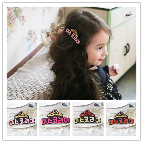 3 pc Baby Toddler Girl Hair Clips Kids Gift Crown Headband sold Party Birthday accessories(China (Mainland))