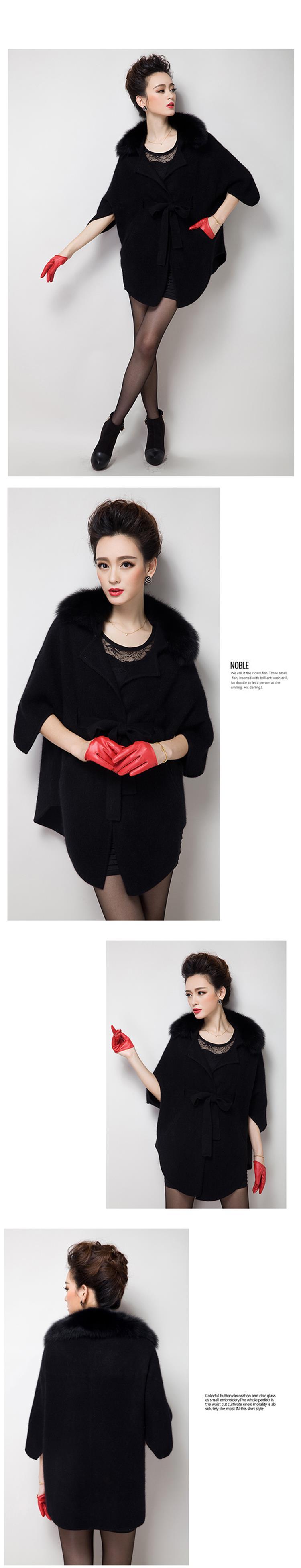 New Europe women pure mink cashmere sweater cardigan coat fox fur mink fur coat