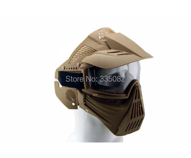 2014 free shipping Original Scott Full Face Mesh Mask with Goggle Airsoft Tactical Face Guard Mask with Mesh Goggles(China (Mainland))