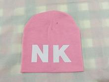 13 colors kids hats 2015 Letter NK print boys girls hat cotton warm knitting skullies beanies