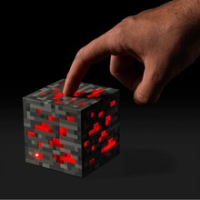 Minecraft Light Up Redstone Ore Square Toys Minecraft Night light LED Figure Toys Light Up Diamond Ore Kids Gifts Toys #DB(China (Mainland))