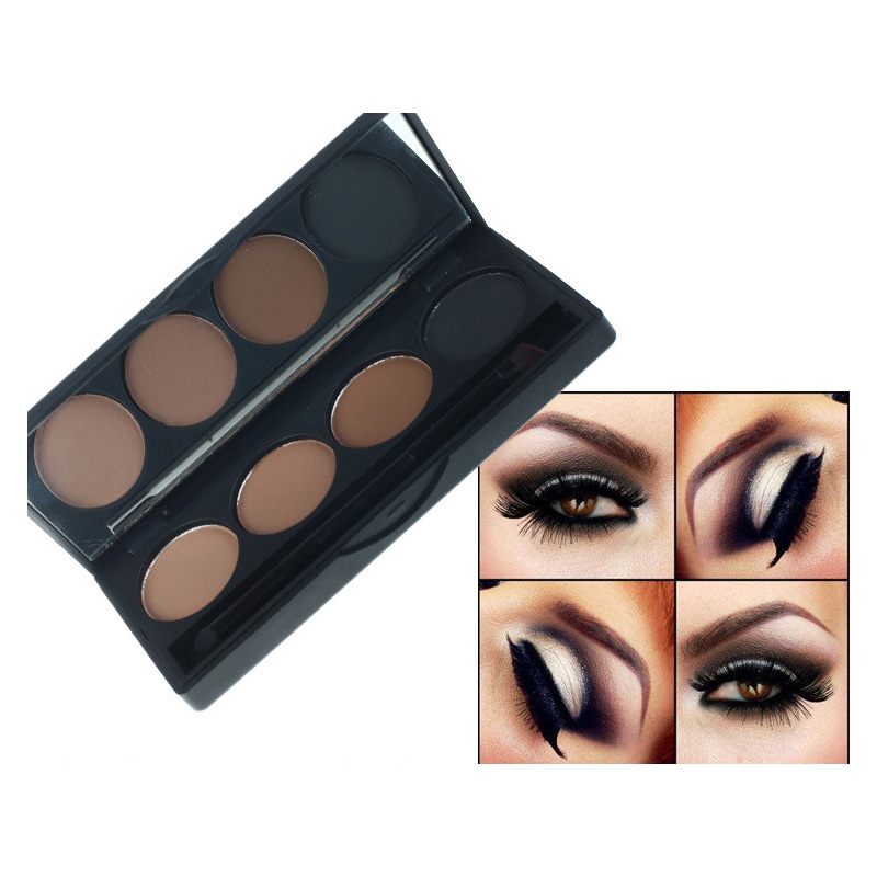 Natural 4 Colors Eye shadow Comestic Long Lasting Makeup Eyeshadow Palette Matte Brand For Women 2 Style For Choose(China (Mainland))