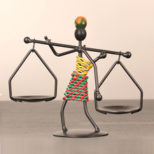 Creative gifts candle holder for wedding home decoration iron metal person fashion romantic(China (Mainland))