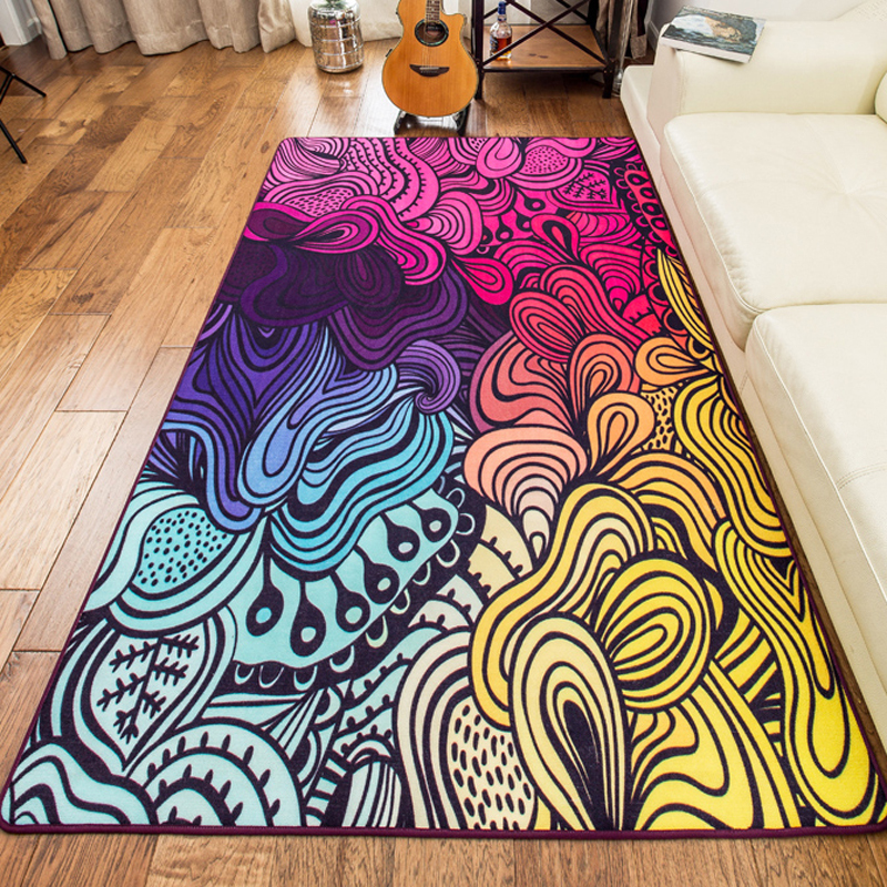 160*230cm Large Size High Quality Colorful Rugs And Carpets Area Rug For Living  Room
