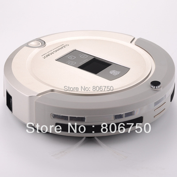 (EMS Free Shipping For Russian Buyer)4 In 1 Multifunction Robot Vacuum Cleaner ,LCD Touch Screen,Schedule,Auto Charge