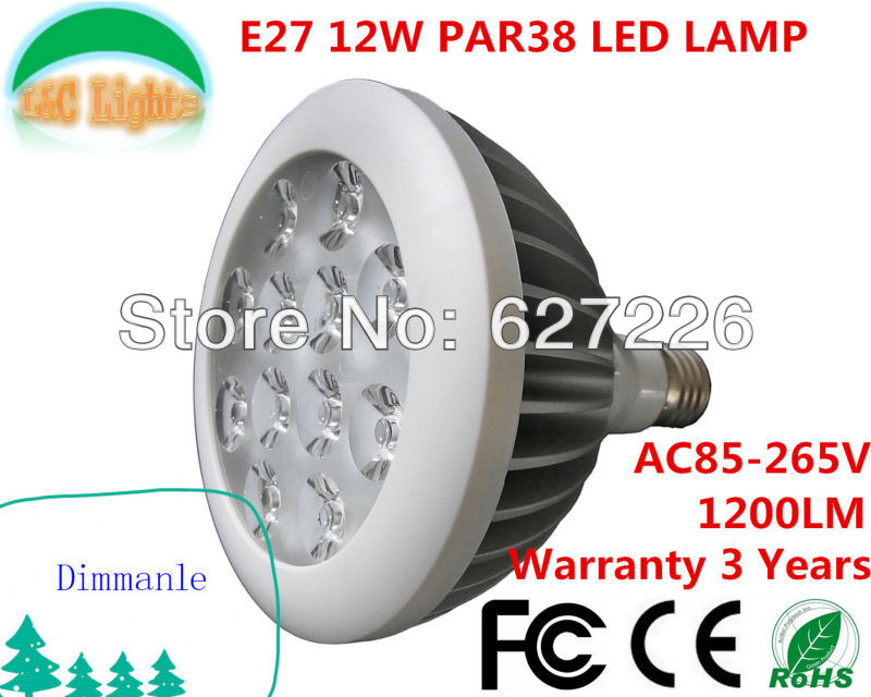 Factory Wholesale PAR38 LED E27 Dimmable SpotLighting,Indoor High Power Bedroom Bulb,Indoor Bedroom Bulb,Track lighting source(China (Mainland))