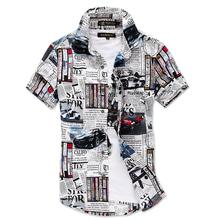 New fashion summer short sleeve mens shirt casual cotton slim fit mens dress shirts(China (Mainland))