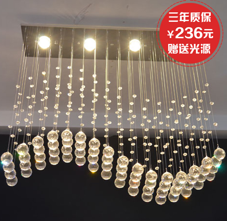 Lighting screen lantern hanging wire bar pendant light crystal lamp dining room pendant light lamps 5289(China (Mainland))
