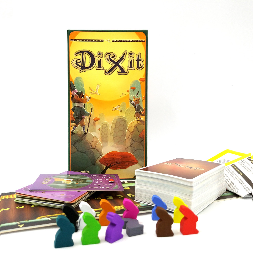 free shipping DIXIT children board games, table fun family playing cards English Russian rules 12 players(China (Mainland))