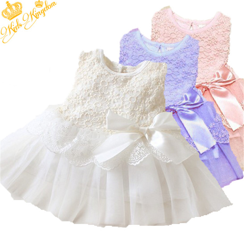 Sweet Girl Kids Flower Princess Party Lace Dress Gown Wedding Prom Dress(China (Mainland))