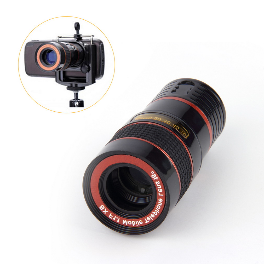 New Optical Lens 8X Zoom Telescope For Camera Mobile Phone 4s camera zoom Wholesale Storesuper discount(China (Mainland))