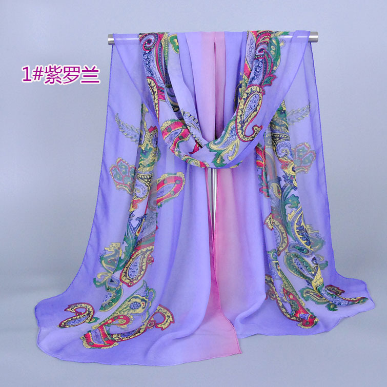 2016 Summer chiffon scarf women national style paisley printed women scarf long scarves and shawl(China (Mainland))
