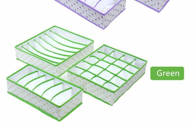 משלוח חינם החדשה-3 יח ' תיבת אחסון להגדיר עבור חזייה, תחתונים לקשור גרביים עם 6/7/20cell
