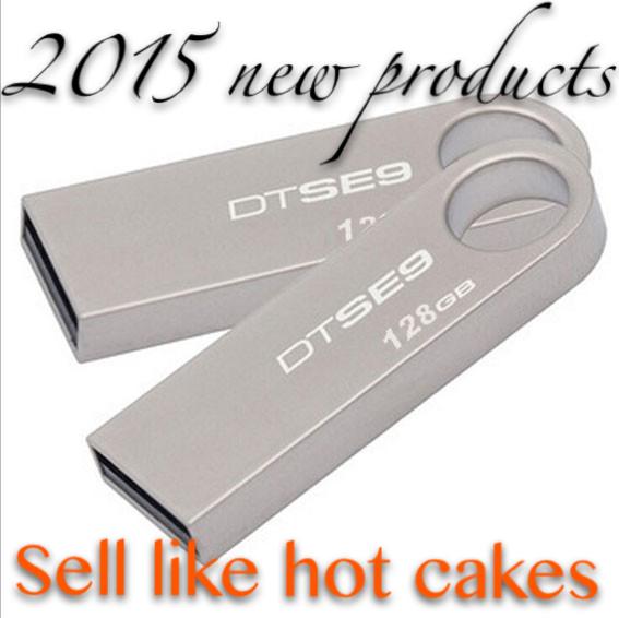 Wholesale and retail new USB 32 gb 64 gb 128 gb flash drive metal USB 2.0 flash disk flash memory memory stick free shipping(China (Mainland))