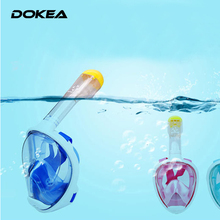 Snorkeling Goggles Full-Face Children & Adult  Nasal Breathing Tube Mask Seal Snorkeling Mask Diving Snorkel Swimming Spectacle(China (Mainland))