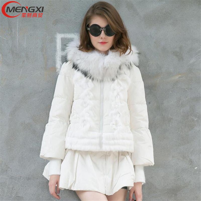 Women Winter Jacket Coat Thick Raccoon Fur Hood Parka Women Down Jackets Plus Size Outwear Winter Parka Veste Femme Hiver #M0515