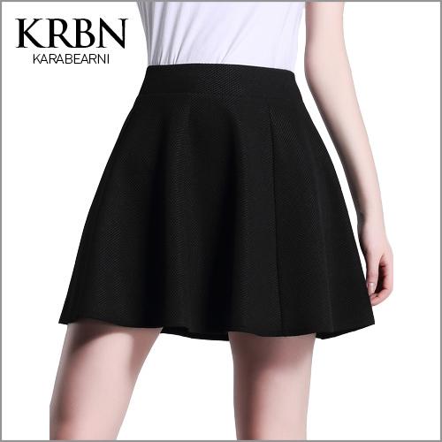 tutu skirt faldas largas skirts womens casual high waist skirt ball gown solid black mini knitting women skirt Q00153(China (Mainland))
