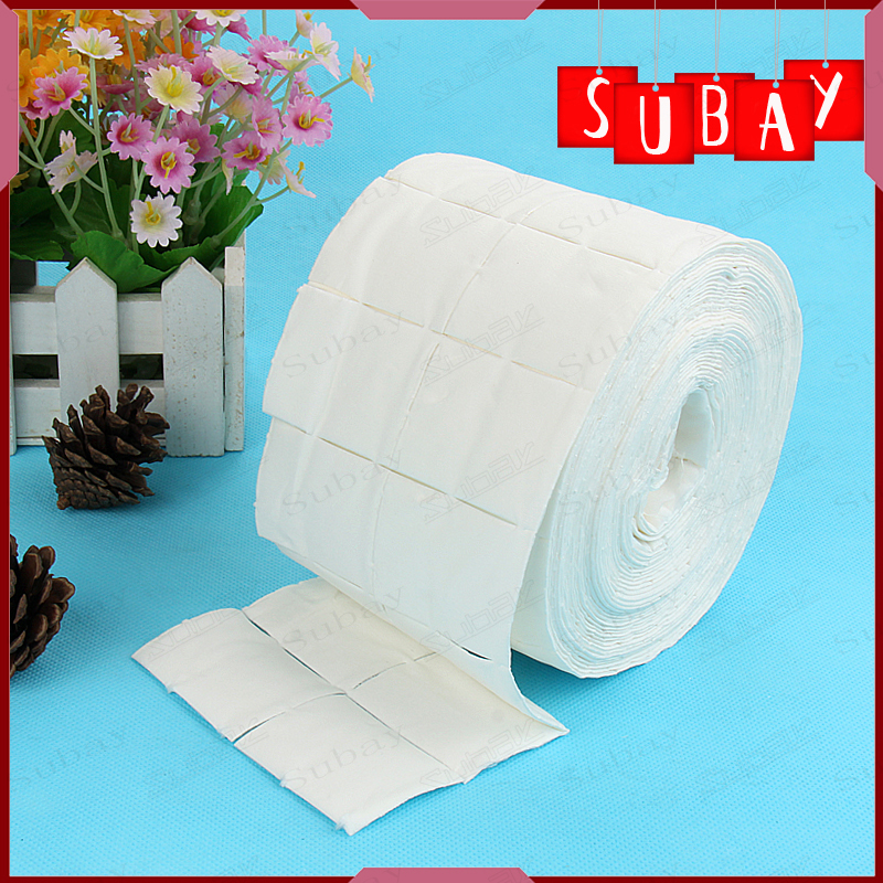 Roll of Lint Free Nail Art Polish Acrylic Gel Remover Wipes / Paper Towel 500pcs Cleaning Cotton Pads(China (Mainland))