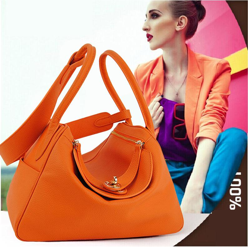Women Genuine Real Leather Shoulder Handbag Doctor Satchel Messenger Bag Designer Purse Fashion Stylish Lady Hobo Retro Vintage(China (Mainland))