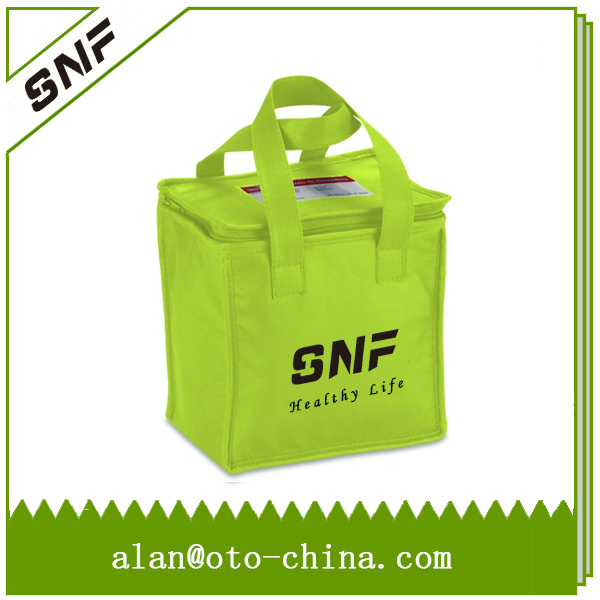 Custom Promotional Reusable ID Holder Non woven Cooler Lunch Bag(China (Mainland))