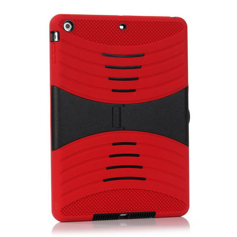 Brand New Hybrid Robot Tablet PC Case Silicone+PC Shockproof Back Hard Cover Case with Stander Holder for iPad 5(China (Mainland))